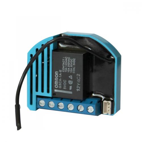 Фотография товара - Одинарное встраиваемое реле, нагрузка до 2.3 кВт, с сухими контактами Qubino Flush 1D Relay