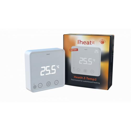 Фотография товара - Настенный комнатный термостат Heatit Z-TEMP2 (белый)